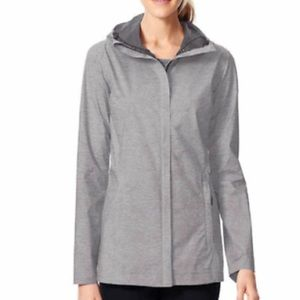 32 Degrees Cool Full Zip Rain Hooded Jacket, Sz S